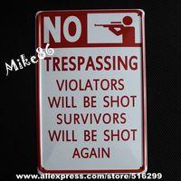 [ Mike86 ] NO SHOT VIOLATORS SURVIVORS Metal Poster Retro Wall Decor Vintage Tin Sign Art A-454 Mix Order 20*30 CM