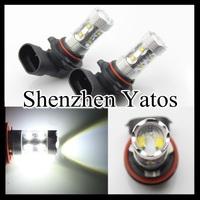 2pcs H8 50W High Power Cree LED Car Fog Light Xenon White Daytime Running Bulb