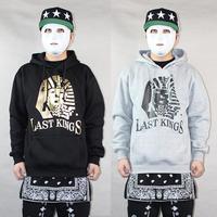 Last Kings Hoodie Men Fashion Hip Hop Big Baggy Loose Cotton Pullover Egypt Gold Sphinx Lion HipHop Sweatshirt Coat Pyrex HBA