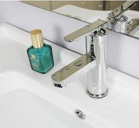 chrome plated Ceramic valve core Basin faucet hot and cold faucet