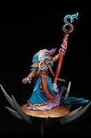 Free Shipping Fantasy Warriors of Chaos Sorceror on Disk (Metal Models)