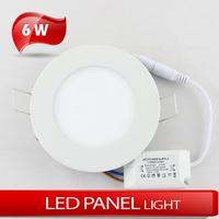 LED 6W Circular panel light 500LM cold white Ultra thin panel light AC85~265V
