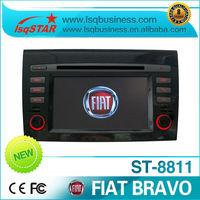 Free Shipping!!! Fiat Bravo Car DVD Player with GPS Navigation Radio ipod bluetooth TV usb sd slot dual zone...