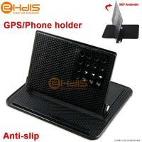 Free shipping Universal 360 degree Rotatable Magic Mount GPS Navigator Bracket Anti-slip Mat Mobile Phone Holder