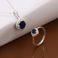 Wholsale new FASHION jewelry  925 Sterling Silver necelace  ring set Penoyjewelry LKNSPCS549