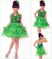 2014 new summer girl dress party princess dresses children girl costumes tutu dress sequined sleeveless flower dress 3~10 years