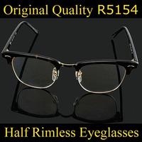 2014 Brand Designer Women Round Eyeglasses Men Ray 5154 Eye Prescription Glasses Frame Band Nerd Glasses Frames Oculos De Sol