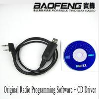 USB Programming Cable+CD Software for Baofeng Walkie Talkie Radio UV-5R UV-5RA UV-5RC UV-5RE plus UV-B5 UV-B6 GT-3 UV-82 UV-8 D