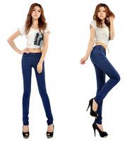 New 2014 Hot sale Spring New arrive jeans women pencil pants candy color pencil jeans for women promotional