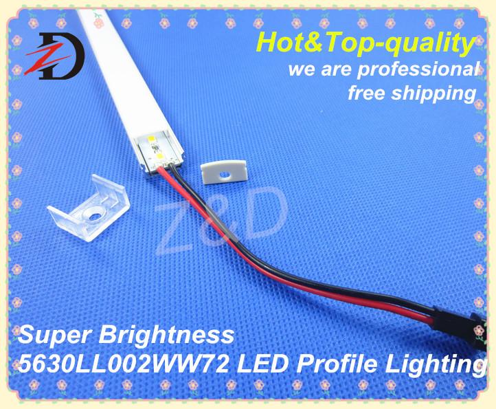 Free Shipping 2014 New Designer 0.5m 5630LL002 Warm White Aluminum LED Profile/Extrusions Bar Lights for Lighting Decoration(China (Mainland))