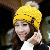 Free Shipping The new women's fashion wool hat Ms sweet model fashion knitting hat Ms bonnet cap in the winter
