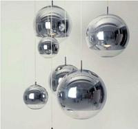 Plated ball pendant light silver glass ball pendant light restaurant lamp living room lamps bar lamp stair lamp
