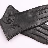 S-XL Women's Winter Gloves New 2014 100% Sheepskin Plus Velvet Genuine Leather Heated Gloves Warm Leather Gloves For Women