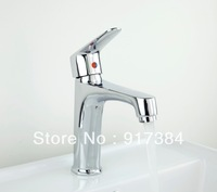Beauty Fashion Single Handle Stream Bain Bathroom Vanity Sink Faucet  Mixer Tap Spout, Brass Deck Mounted Chrome L-8350