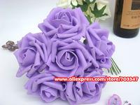 Fast Shipping!! (432pcs=72 bouquets)( 7-7.5cm ) EVA Foam Rose Bouquet in Purple For Bridal Floral arrangements  * FREE SHIPPING*