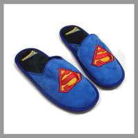 Slippers High quality Superman Skidproof Home Slippers,Cartoon Slippers,Winter Warm Plush Slippers For Men&Women