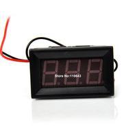 15pcs/Lot Wholesale High Quality Red LED Panel Meter Volt Voltage Meter Mini Digital Two-wire Voltmeter  DC 3V To 30V  TK1217