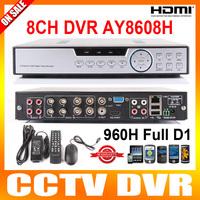8 Channel H.264 Full 960H D1 DVR 8Ch CCTV 1080P HDMI Network Cloud Service Security DVR Support 700TVL Camera Moblie Online