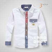 New arrival 2014 Kids Spring boys solid shirts childrens fashion shirts