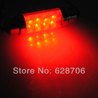 2x RED 42mm 8 LED C5W Car Interior Dome Festoon Reading Light Lamp Bulb 12V NEW