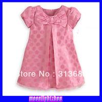 2014 spring and autumn new models Cartoon dot dress summer short-sleeved dress Purple cake dress xs 024  l