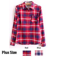 Осень новой моды уличной моды реторты племенных печатных отворот воротник блузки рубашки для женщин хлопчатник