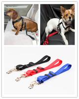 Wholesale! 10pcs/lot Adjustable Strong pet/Dog Car Cat Travel Seat Belt Clip Lead Restraint Harness Auto traction leads