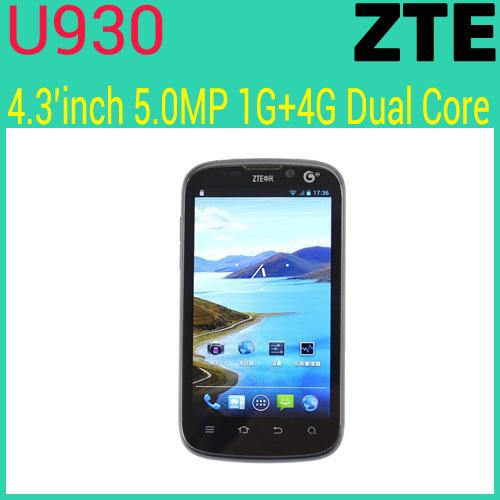 Мобильный телефон U930 Dualcore 4,3 5.0MP 3 g Android 4.0 ZTE tuffstuff ppl 930
