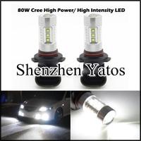 2pcs High power 80W CREE H4/H7/H8/H9/H11/H10/9005/9006/H16/P13 Car LED Fog light