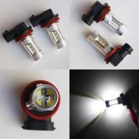 2pcs 80w cree white hb3 9005 hb4 9006 h8 h11 High Power LED Car fog running light bulbs 12V 24V lamp