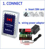 free shipping home gsm alarm panel ,16 wireless zones watchdog ,sos 24 hours zones (S160)