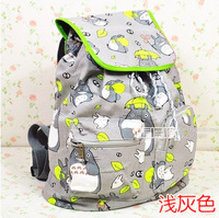 Totoro Backpack Canvas Bag print casual shopping double-shoulder Girl Student backpack school bags