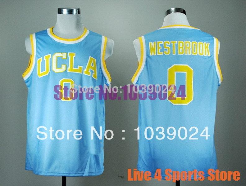 Cheap UCLA Bruins #0 Russell Westbrook Jersey True Blue 31 Reggie Miller 32 Bill Walton College Basketball Jersey 100% Polyester(China (Mainland))