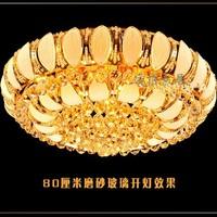 Brief modern lighting bedroom pendant light circle led crystal lamp