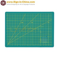 C Level A2  3-Layer Printed Grid Lines Knife Board Cutting Mat