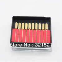 Nail Tools of Nail Drill Accessories 10pcs/box Tough  Golden  Nail Drill Bits For Nail Polishing Allow Mixing