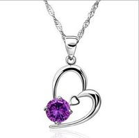 Luxury 100% genuine 925 sterling silver necklace pendant choker necklace engagement fine jewelry