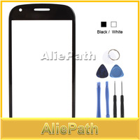 Front Outer Replacement Touch Screen Digitizer Glass Lens For Samsung Galaxy S3 Glass SIII Mini / i8190 With Tools - White/Black