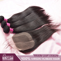 Peruvian straight virgin hair and middle part lace closure cheap human hair,vip beauty hair,free shipping