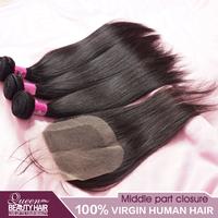 Peruvian straight virgin hair and middle part lace closure cheap human hair,vip beauty hair,free shipping