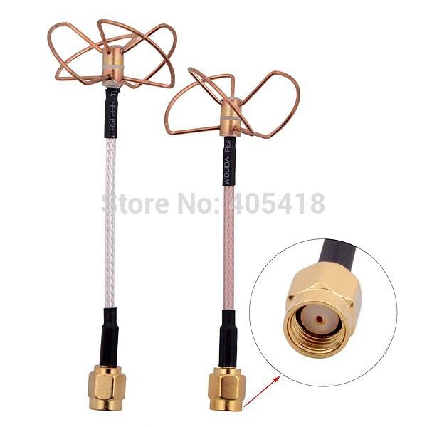 FPV 5.8 GHz Cloverleaf antennas set RX- SMA TX - RP SMA connector(China (Mainland))