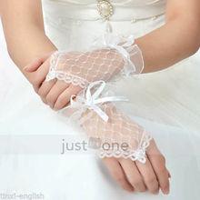 de novia sexy noche vestido de fiesta elegantes encajes nupcial guantes sin dedos(China (Mainland))