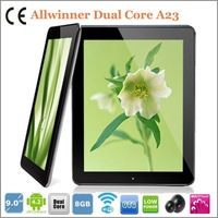 9 inch tablet pc Allwinner dual-core A23 1.2GHZ 8GB 512MB wifi 4000mAH  5-point touch capacitive screen Android 4.2