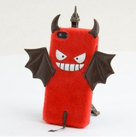 Fashional&Humorous Bat Pattern 3D Design Plush Hard Phone Case for iPhone 5/5S free shipping