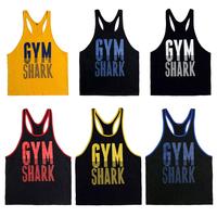 E0481 tropical Cotton Gym Fitness Bodybuilding Wear Men's Muscle Tank Tops Loose Professional Sports Vest colorful choose