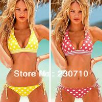 Free shipping women's fashion polka dot bikini swimwear swimsuit,cheap swimsuit bandeau ladies bikini fashion swimwear FZ 191