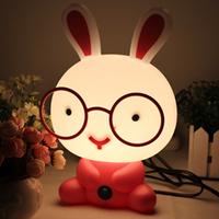 Free Shipping!!1 pcs Cartoon lovely rabbit table lamp fashion small night light