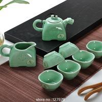 2014 new, cool style, Dehua Genuine, kung fu tea set, ceramic tea set, Longquan celadon, teapot!!