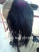 High Quality #1b braided 100% Mongolian hair full lace braided wig Hotsale