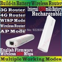 EnglishFirmware TENDA 4G301 Wireless 300Mbps 3G 4G Portable Router 300M Travel WiFi Internal 5200mAh Power Bank TD/FDD-LTE Modem